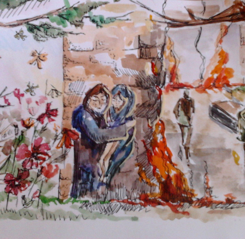 Иллюстрация к рассказу Кузнецовой Веры Николаевны (автор Солдатова И 15 лет)
