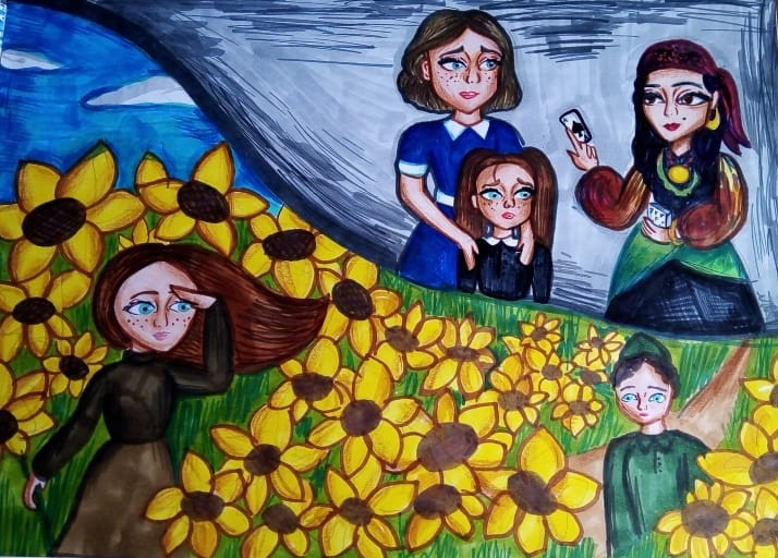 Иллюстрация к рассказу Грибовой Анны Максимовны (автор Костина Наталья 12 лет).