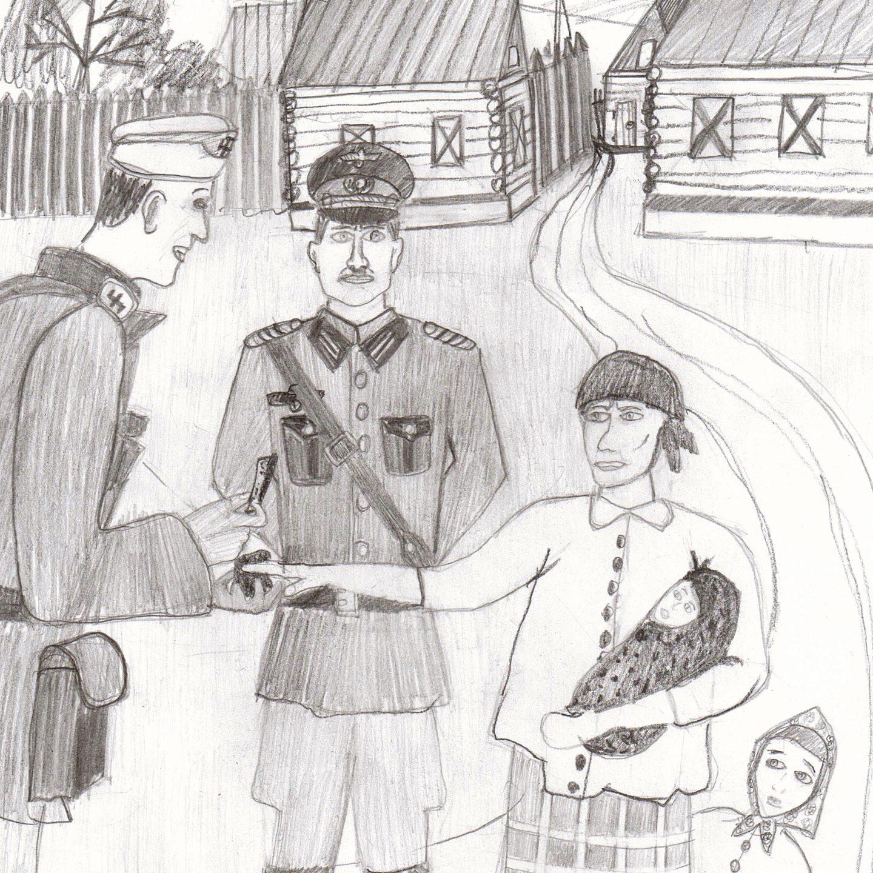 Иллюстрация к рассказу Поляковой Анастасии (автор Иванов И. 13л)